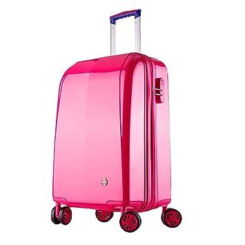 Maleta cabina 4 ruedas equipaje rigida barata Ligero ABS+PC equipaje viaje 20101 rosa Partyprince: Amazon.es: Equipaje