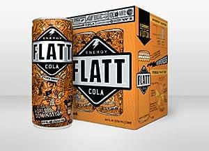 Flatt Energy Cola 16 Pack (4 Four Packs)