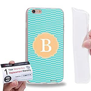 "Case88 [Apple iPhone 6 / 6s Plus (5.5"")] Gel TPU Carcasa/Funda & Tarjeta de garantía - Art Typography Fashion Alphabet B Style"