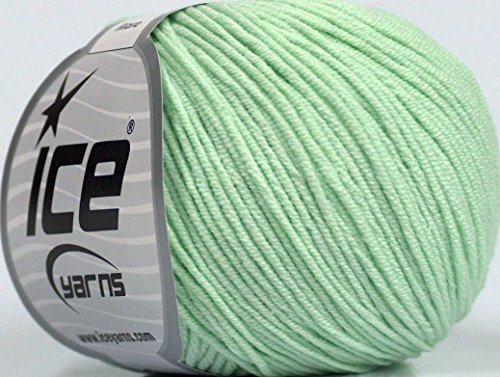 Yarns ALARA (50% Cotton) Hand Knitting Yarn Mint Green (Alara Mint)