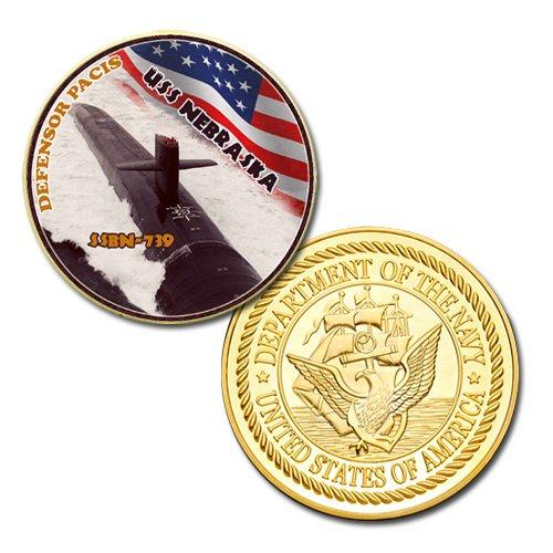 US Navy USS NEBRASKA SSBN-739 GP Challenge coin