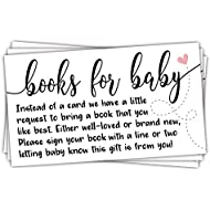 50 Sweet Heart Books for Baby Shower Request Cards -...