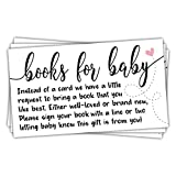 50 Sweet Heart Books for Baby Shower Request Cards - Baby Shower Invitation Inserts