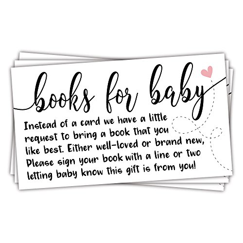 50 Sweet Heart Books for Baby Shower Request Cards - Baby Shower Invitation Inserts]()