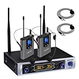 Hotec UHF Dual Wireless Microphone System with
