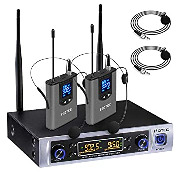 Wireless Mic System For Classroom : hotec uhf dual wireless microphone system with lapel lavalier and headset ~ Vivirlamusica.com Haus und Dekorationen