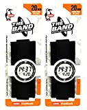 Chums The Band 20mm Wide Sports Velcro Watch Band / Strap, Black (2 Pack)