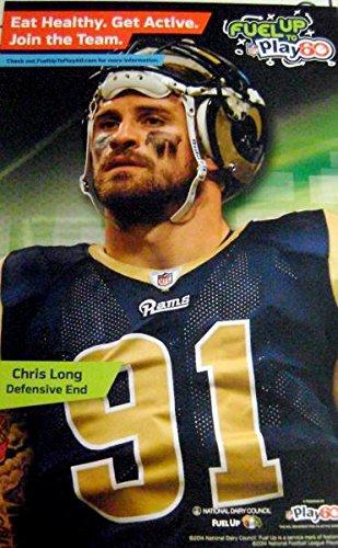 Chris Long poster (St. Louis Rams) Defensive End #91 11