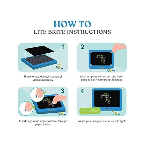 IllumiPeg Little Miss Refill templates for Basic Fun Lite Brite Magic Screen Retro Style (12 Sheets, 6x8) 8