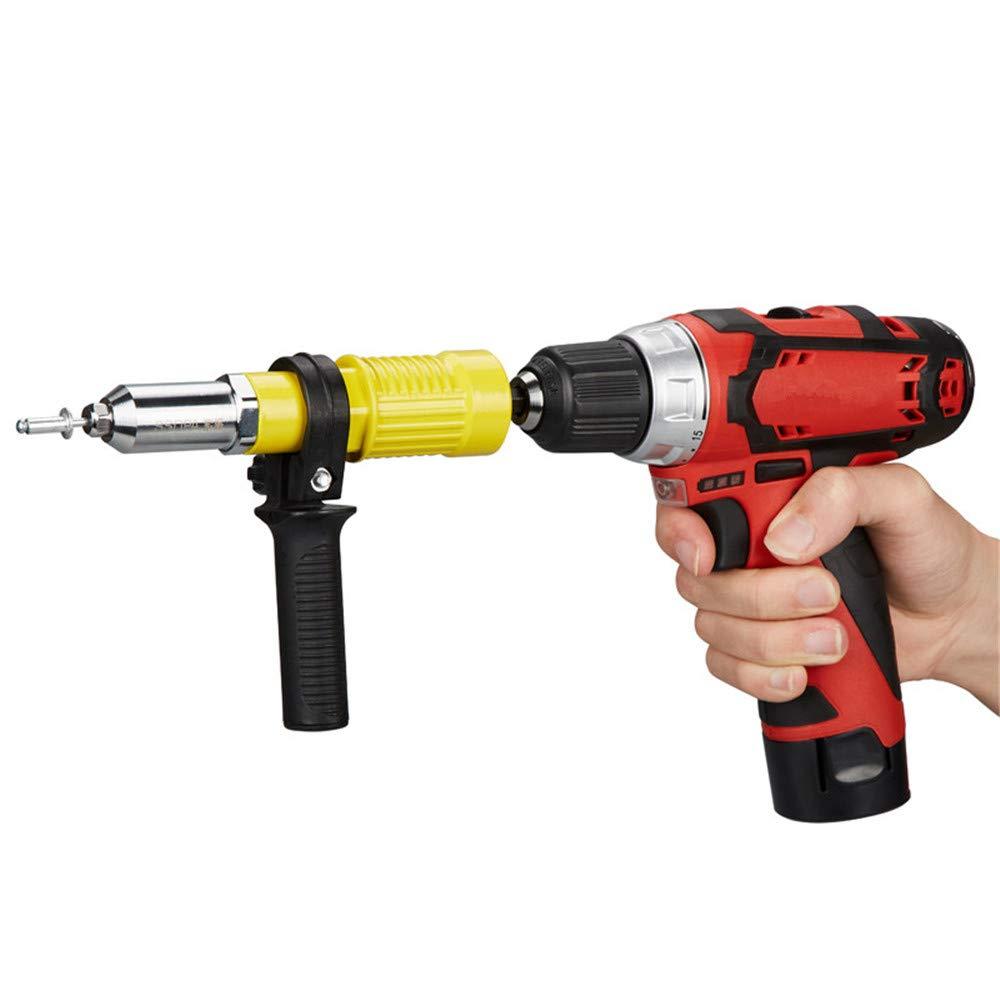 Artensky Rivet Adapter Rivetto Elettrico Nut-Gun Rivettatura Tool Kit per Trapano Inserto Rivettatrice