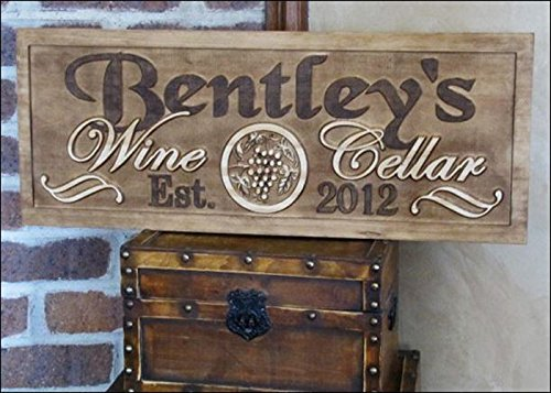 - Personalized Family Name Signs WINE Tasting Room Cellar CARVED Custom Wood Sign Last name Wedding Gift rustic Established Gift for couple house warming personalized Wine Cellar sign