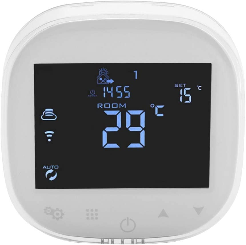 WiFi Programmable Thermostat for Home Digital Touch Screen Temperature Control Humidity Sensor (90-240V)