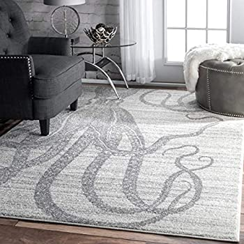 Amazon Com Nuloom Bdtp05b Thomas Paul Octopus Area Rug 4
