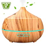 INSMART Aromatherapy Essential Oil Diffuser 400ML, Ultrasonic Cool Mist Humidifier with 7 Color