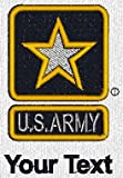 Personalized custom embroidered U.S. Army star