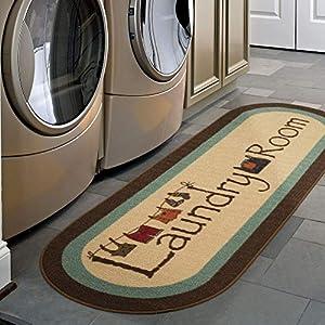 Ottomanson Laundry Runner Rug, 20″ x 59″, Brown