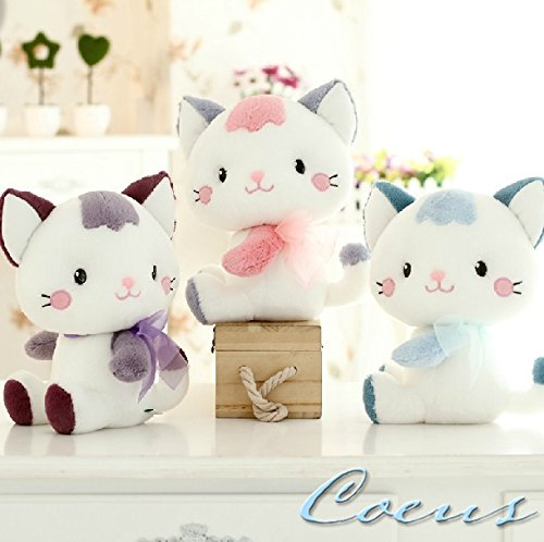 Coeus Cute & Lovely Bedtime Plush Animal /Plush Toy Soft Doll,the Best Gift for Kids/children/girlfriend, Soft Stuffed Plush Toy- Lovely Cat / Kitty,7 Inch / 18 Cm - Sitting Kitty Cat