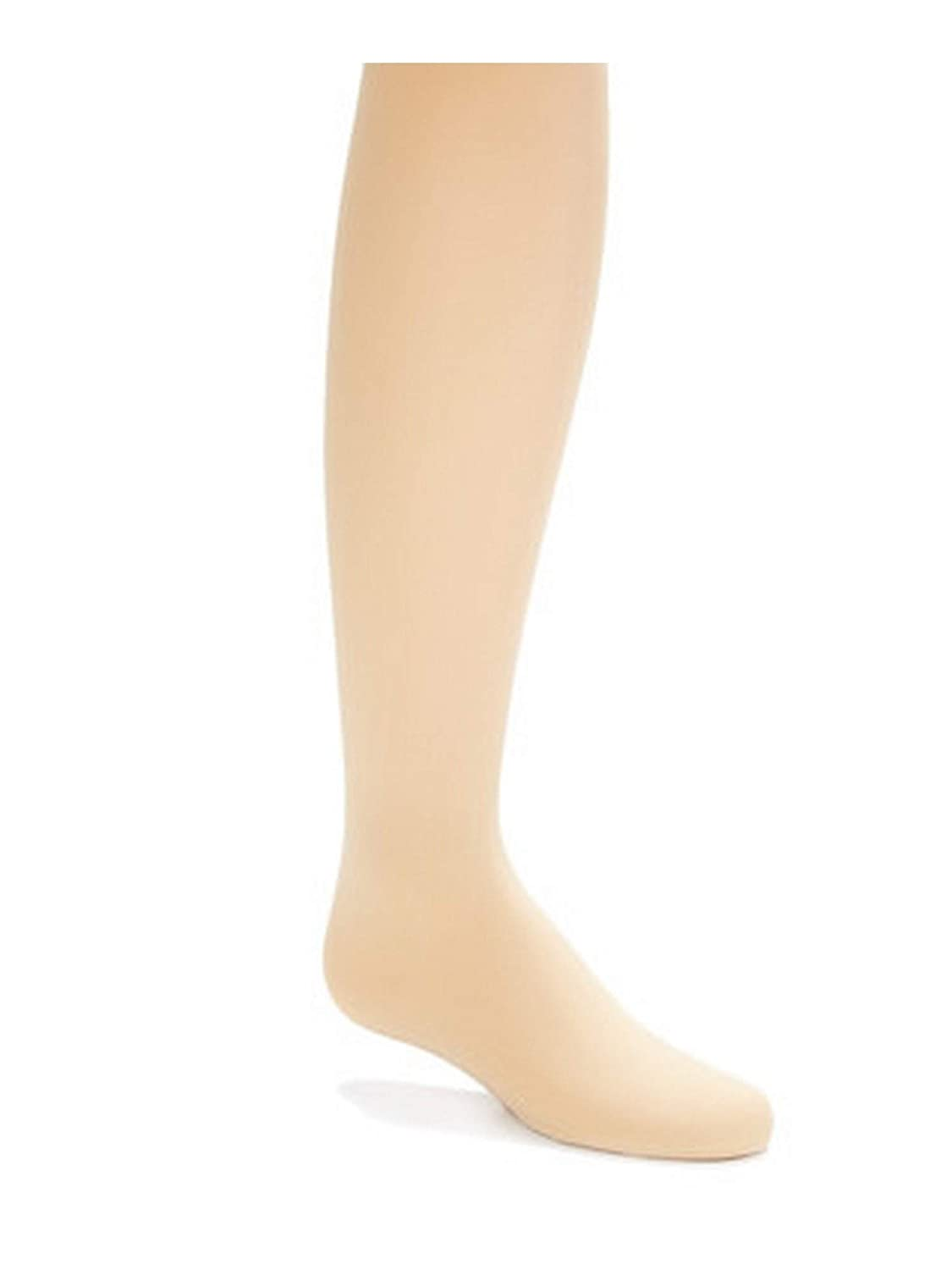 Wenchoice Big Girls Tan Solid Color Stretchy Soft Footed Tights 8-15