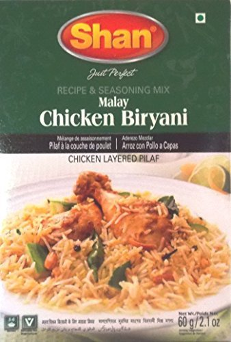 Shan Malay Chicken Biryani Recipe And Seasoning Mix - Pack of 6 (2.1 Oz. ()