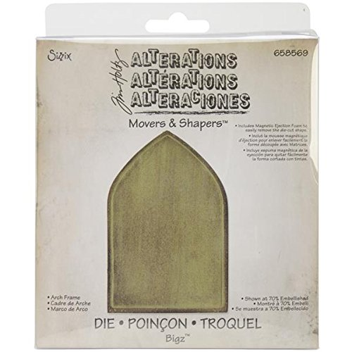 - Sizzix 658569 Movers and Shapers Base Die by Tim Holtz, 5.5 by 6-Inch, Arch Frame