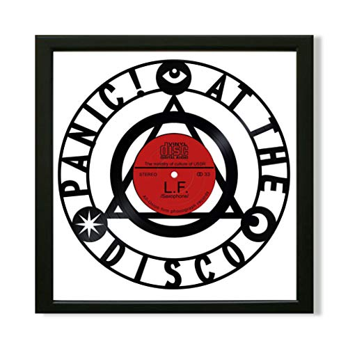 SofiClock Panic! at The Disco Framed Decor Vinyl 13.8x13.8 - Unique Wall Art Decor Panic at The Disco Rock Band - Best Gift for Rock Music Lover - Original Wall -