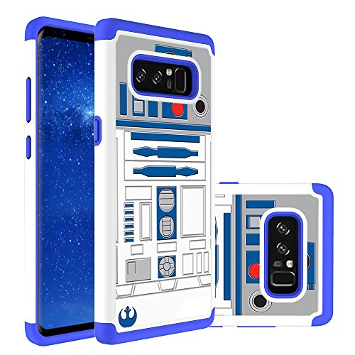ote 8 Cover - R2D2 Astromech Droid Robot Pattern Shock-Absorption Hard PC and Inner Silicone Hybrid Dual Layer Armor Defender Protective Case for Samsung Galaxy Note 8 - Great Gift (Sunshine Note)