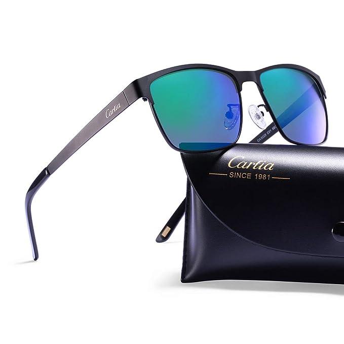 Carfia Gafas de Sol Polarizadas Hombre para Conducción Viaje y Aire Libre-Marco Metal: Amazon.es: Ropa y accesorios