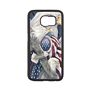 Custom Phone Case American Eagle and Flag For Samsung Galaxy S6 Edge SM-G925 APPL8304104