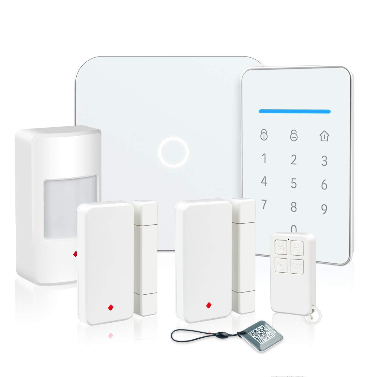 LarmTek Smart Wi-Fi Alarm System with, Alarm Host, Motion Sensor and Remote Smart Phone Control, IP Camera(Optional,Wireless LAN Wi-Fi GSM Cellular Home Security System Kit with Easy DIY Setup, AK1-W by LarmTek