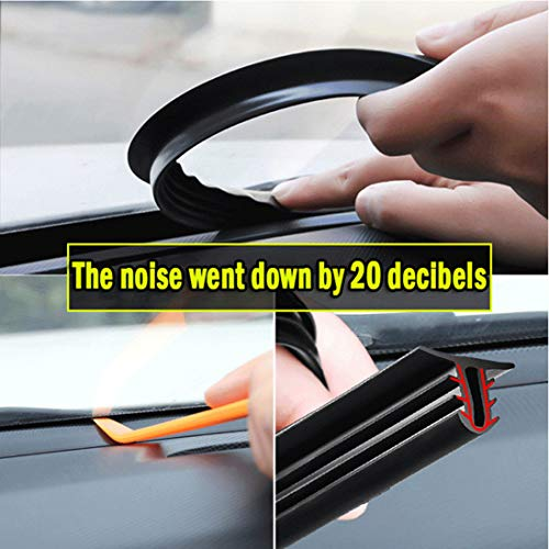 (HENGJIA Auto Parts 1.6M Edge Trim Rubber Seal Protector Guard Strip for The Space Between Dashboard and Windshield of Cars )