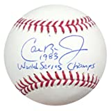 "Cal Ripken Jr. Autographed Official MLB Baseball Baltimore Orioles ""1983 World Series Champs"" PSA/DNA Stock #22190"