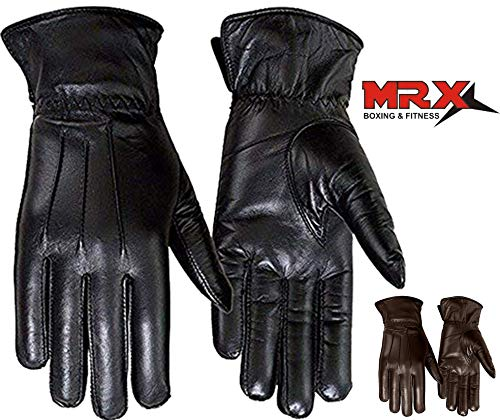 - Ladies Warm Winter Gloves Dress Gloves Thermal Lining Geniune Leather (WOMEN BLACK, Small)