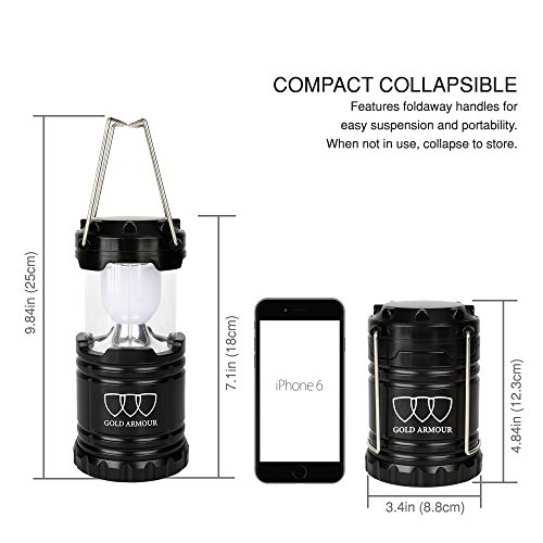 Camping Lantern LED Lantern Lights (6 COLORS: BLACK, GRAY, BLUE, RED, PURPLE, PINK) Camping Gear Equipment for Outdoor, Hiking, Emergencies, Hurricanes, Outages