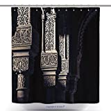 vanfan-Funky Shower Curtains Alhambra Islamic Art Bath Decorations Bathroom Decor Sets With Hooks(72 x 108 inches)