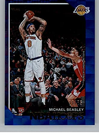 a55d01ce551 2018-19 NBA Hoops Blue Checkerboard  38 Michael Beasley SER75 Los Angeles  Lakers Official
