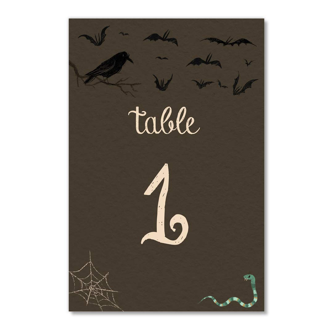 Halloween Table Numbers 25 Count Assigned Seating Event Day Evening Adults Kids Costume Parties Single Sided 4