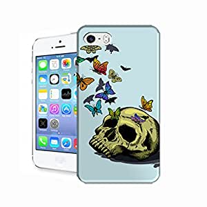 Skull into a butterfly nest Hard Cover Case for Apple iPhone 5C Designed by Bradley's Shop