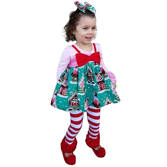 Amazon.com: HI-MZY Fashion Baby Girl Warm Christmas House Cute Dot Print Sleeveless Dresses: Clothing
