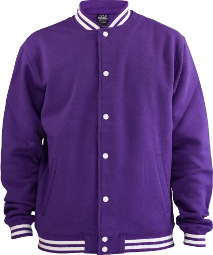 Urban Classics College Sweatjacke TB119, size:XL, Farbe:purple