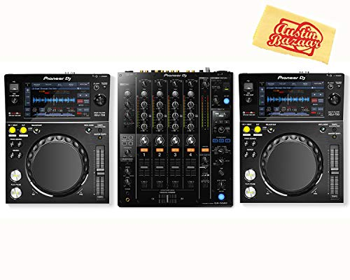 Cheapest Price! Pioneer XDJ-700 Compact Digital Player Bundle with DJM-750 Mixer and Austin Bazaar P...