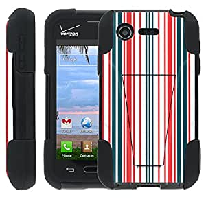 [ManiaGear] Rugged Armor-Stand Design Image Protect Case (Lightning) for LG Optimus Zone 2 VS415P / LG Fuel L34C