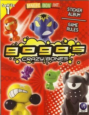 Crazy Bones Gogo's Series 1 Sticker Album and Game Rules Book