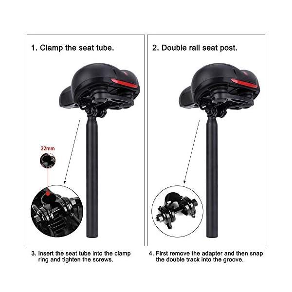 SPGOOD Sella per Bicicletta, Sella per Comodo Impermeabile e Traspirante da Uomo e da Donna, Sedile Bicicletta… 4 spesavip