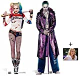 Fan Pack - Suicide Squad Harley Quinn and The Joker Movie Twin Pack Lifesize 2D Cardboard Standup / Cutout Plus 20x25cm Photo by BundleZ-4-FanZ Fan Packs by Starstills