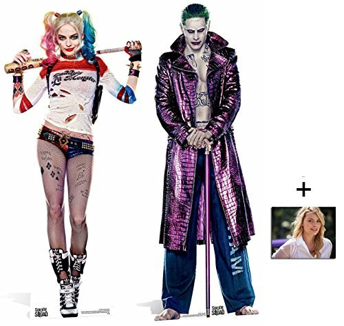 Fan Pack - Suicide Squad Harley Quinn and The Joker Movie Twin Pack Lifesize 2D Cardboard Standup / Cutout Plus 20x25cm Photo by BundleZ-4-FanZ Fan Packs by Starstills by BundleZ-4-FanZ Fan Packs by Starstills