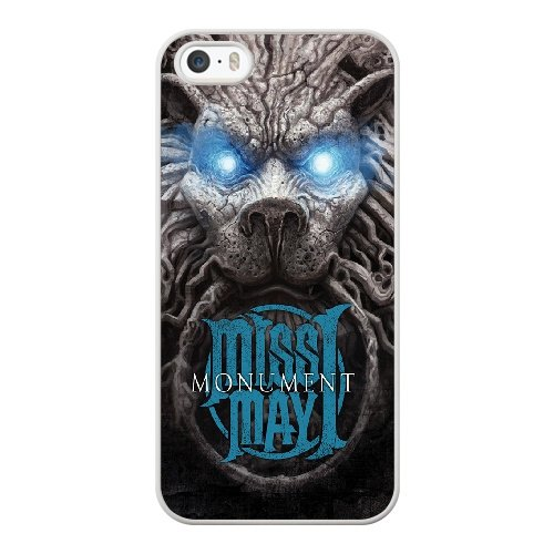 Coque,Coque iphone 5 5S SE Case Coque, Miss May I Monument Cover For Coque iphone 5 5S SE Cell Phone Case Cover blanc