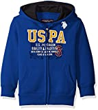 U.S. Polo Assn. Big Boys Fleece Hooded Jacket, Cobalt Blue, 8