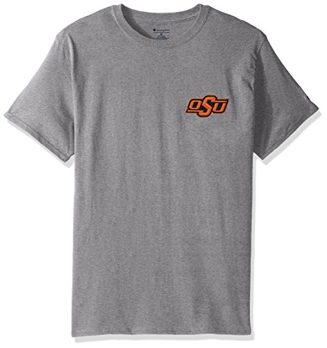 Champion NCAA Team Tagless Cotton Short Sleeve Front/Back Graphic Tee, Oklahoma State Cowboys, XX-Large (Cowboys Oklahoma Basketball State)