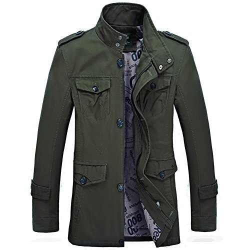 Men's Spring Plus Size Coats Outdoor Practical Wear Resistance Casual Jacket Green US Large(Asian Tag (Men Looking For Plus Size Women)