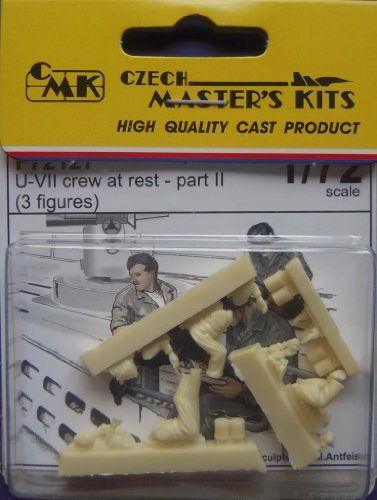 Kits Czech Master (High Quality Cast Product CMK Master's Kit 1/72 U-VII crew at rest Part II (3 figures) MODEL FIGURE KIT)